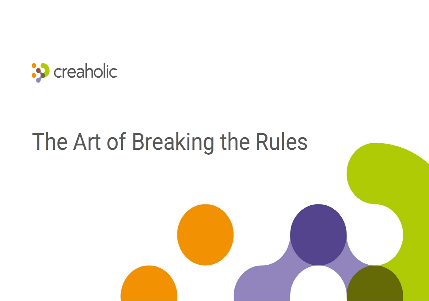 The Art of breakin gthe rules